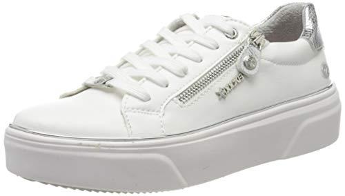 Dockers by Gerli Damen 46BK202-610591 Sneaker, Weiß (Weiss/Silber 591), 38 EU