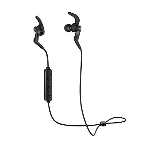 AUKEY Bluetooth Ohrhörer, Wireless Sports Kopfhörer mit eingebautem Mikrofon für iPhones, Apple Watch, Samsung Smartphones, Tablets und vieles mehr