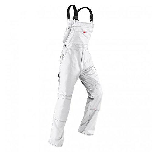 Kübler Inno Plus Uni-Dress weiß Arbeitshose Gr. 64 / Latzhose /Diensthose