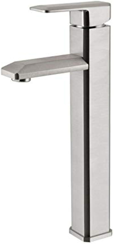 Hoher Krper-einzelner Kupfer-Chrom-Toiletten-Hahn-Badezimmer-Gegenbecken-heier und kalter Wasser-Mischer