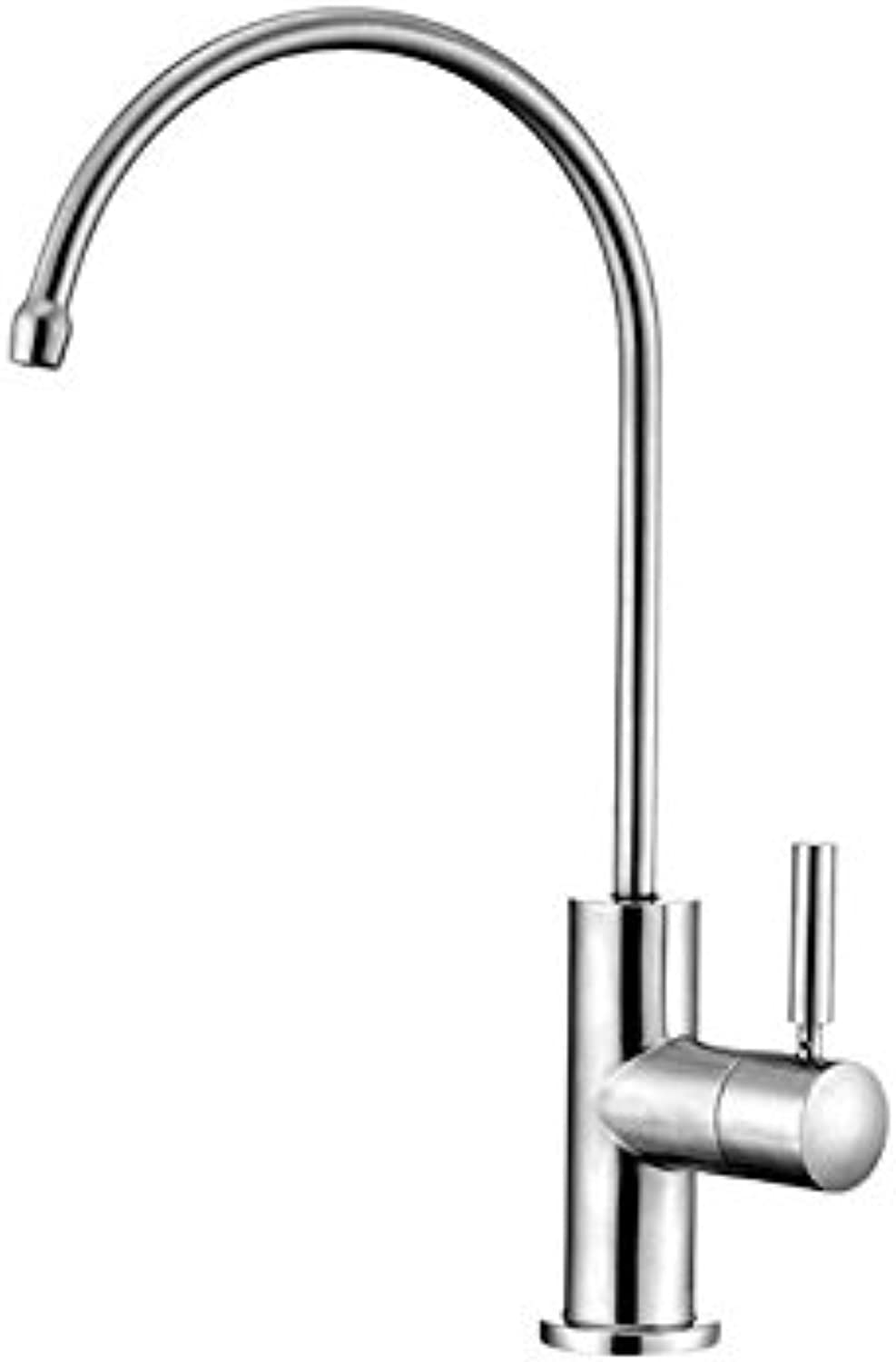 YAWEDA Kitchen Faucet, Sink, Water Purifier, Faucet, Food Grade Sus304 Stainless Steel, Lead-Free Tap, redary Wire Drawing Tap