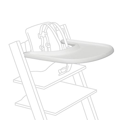 Stokke Tray, White - Designed Exclusively for Tripp Trapp Chair + Tripp Trapp Baby Set - Convenient to Use and Clean - Made with BPA-Free Plastic - Suitable for Toddlers 6-36 Months