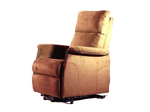 GIMA SILLÓN ELEVABLE ARIANNA 2 motores - Brown. Sillón con sistema de elevación motorizado. Alcanza la posición de la cama garantizando una sesión relajante.