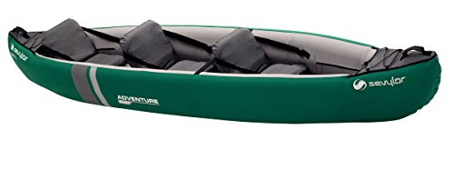 Sevylor Adventure Plus 2-3 Man Canadian Canoe Inflatable Sea Kayak