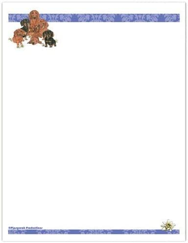 Animal Theme Max 81% OFF Gifts Dachshund Stationery Set Now free shipping Large