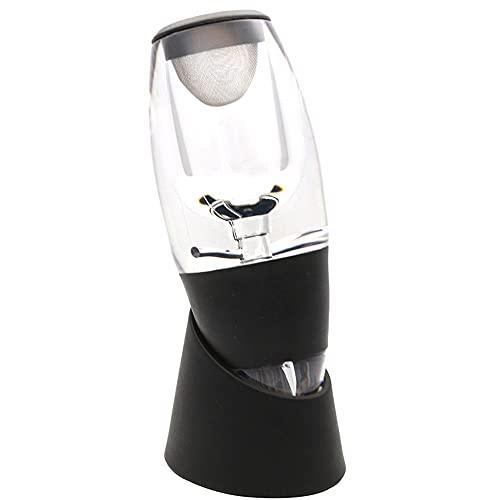 TALLKING Aireador de Vino Tinto con Base para Vino Tinto.Aireador de Vino con Soporte con Filtro de Vino,para entusiastas del Vino Sommeliers Profesionales Negro