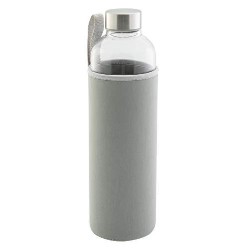 axentia Unisex – Erwachsene Wasserflasche Trinkflasche, grau, 750 ml