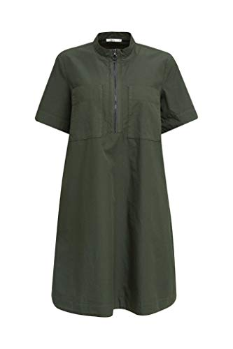 edc by ESPRIT Damen 050CC1E323 Kleid, 350/KHAKI Green, 42