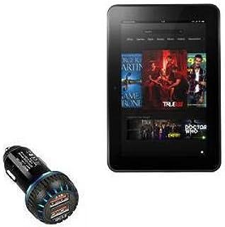 Carregador de carro Kindle Fire HD 8.9 (2ª geração 2012), BoxWave [Carregador duplo QC3.0] Carregador duplo para carregame...