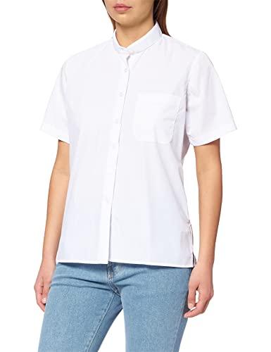 MISEMIYA - Camisa Cuello Mao Uniforme Camarera Mujer MESERO DEPENDIENTA Barman COCTELERA PROMOTRORAS Blusa - Ref.8271B - Medium, Blanco