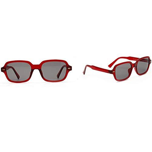 CGQDDP Moda Unisex Gafas de Sol cuadradas Hombres y Mujeres Moda Gafas de Sol de Montura pequeña