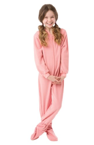 Big Feet Pjs Little Girls Infant - Toddler Pink Fleece Footed Pajamas (4T)