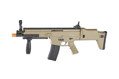 FN Scar-L Spring Powered Airsoft Rifle, Tan, 300 FPS