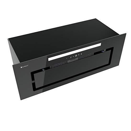 Loteo 80.4 Plus - Campana extractora empotrada, armario de cocina, de acero, color negro