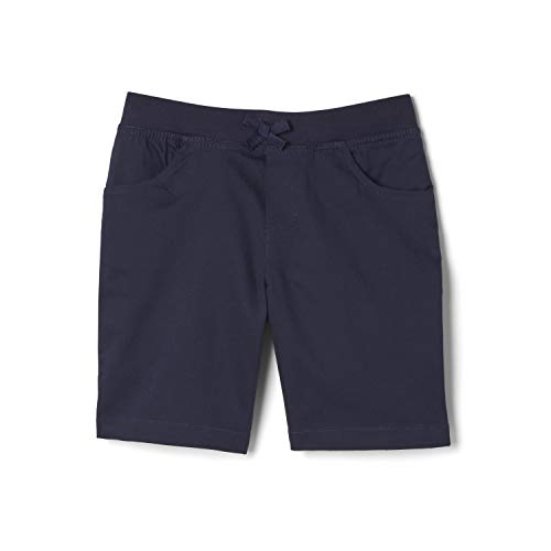 French Toast Girls' Big Stretch Pull-On Tie Front Short, Navy, 10