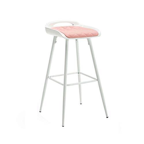 Barkruk Barkruk Hoge kruk Lounge stoel Eetkamerstoel Café Slaapkamer Stoel Teller Keukenstoel Kapper Stoel (Color : Pink)