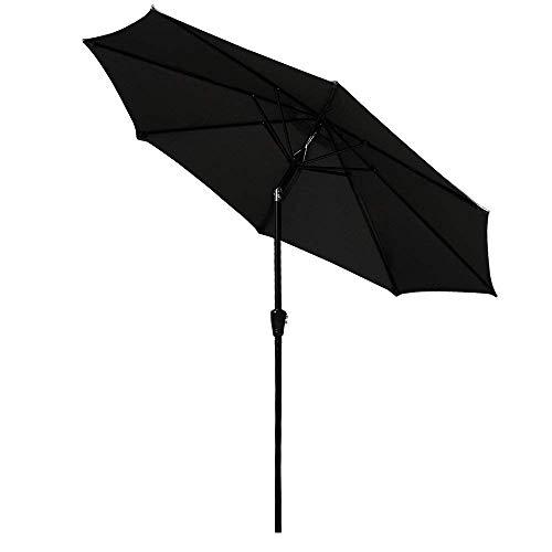 XHCP Parasol de Jardin Parasol, Parasol, Parapluie Parasol de Jardin Banane Parasol extérieur Patio Suspendu en rotin Ensemble Parapluie en Porte-à-Faux (3m, Vert foncé)