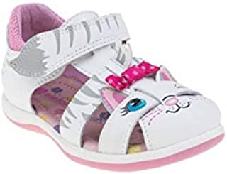elefanten Girls - Toddler Kitty Cat Closed Toe Sandals with Tail and Tiny Papillon - Unique Design, Protection and Comfort