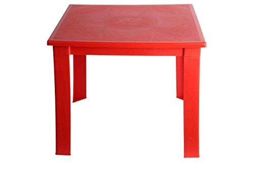 Fiore - Mesa plegable de plástico, para niños, para interiores y exteriores, mesa...