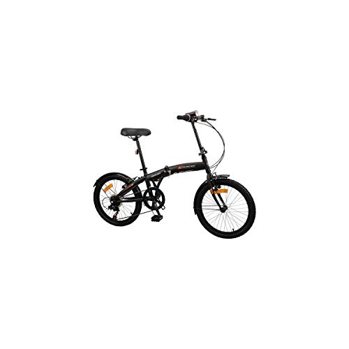 Bicicleta plegable MERCIER 20 6 velocidades indexadas - Frenos Vbrake - Negro