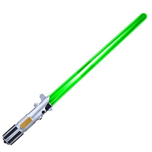 Xbd Espada Laser 2 en 1 Star Wars,Sable de Luz Electrónico,Sable Láser retráctil,Juguete Infantil con Efectos de Sonido y luz