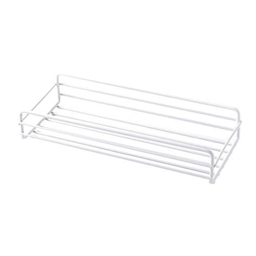 Fenteer Porte-étagère de Rangement En Métal Support de Bureau à Domicile Cuisine Organisateur de Salle de Bain - blanc