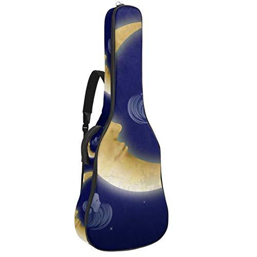 Paquete de guitarra acústica para principiantes, tamaño completo, tapa de abeto recortada, bolsa para guitarra acústica, luna creciente