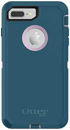 OtterBox Defender Series Case for iPhone 8 Plus & iPhone 7 Plus - Case Only - Non-Retail Packaging - Corsair Blue/Winsome Orchid