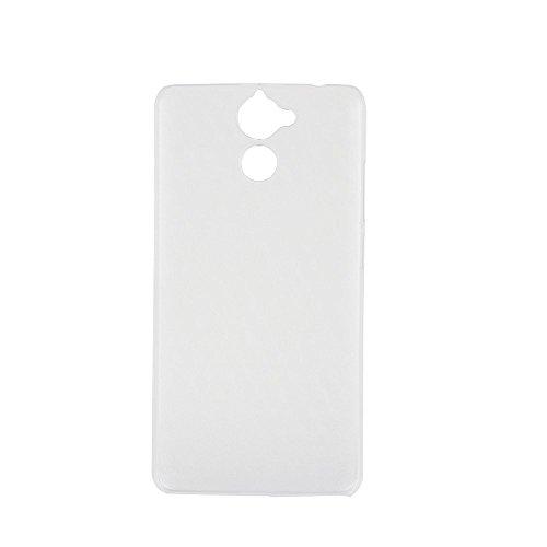 Ycloud Tasche für Blackview P2 Lite Hülle, Handy Backcover Kunststoff-Hard Shell Hülle Handyhülle mit stoßfeste Schutzhülle Smartphone Weiß Transparent