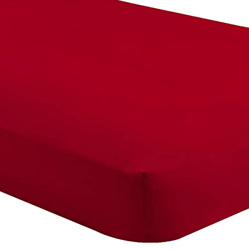Bare Home Fitted Bottom Sheet Twin Extra Long - Premium 1800 Ultra-Soft Wrinkle Resistant Microfiber - Hypoallergenic - Deep Pocket (Twin XL, Red)