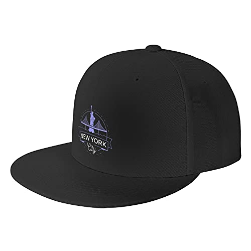 New York City Black Baseball Cap Flat Hat Pop It Adjustable Fashion Hats Make The