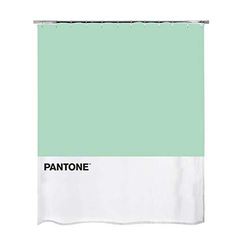 Balvi Cortina baño Pantone Color Verde Cortina Impermeable para la Ducha y bañera, de Estilo Moderno y Original Poliéster 200x180x0,25 cm