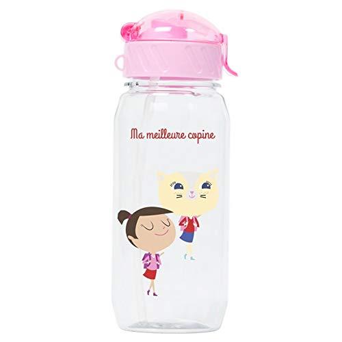 Draeger Kids Best Friend Water Bottle - Illustrated Reusable Bottle - Kids Water Bottle with Straw - BPA Free - Dishwasher Safe