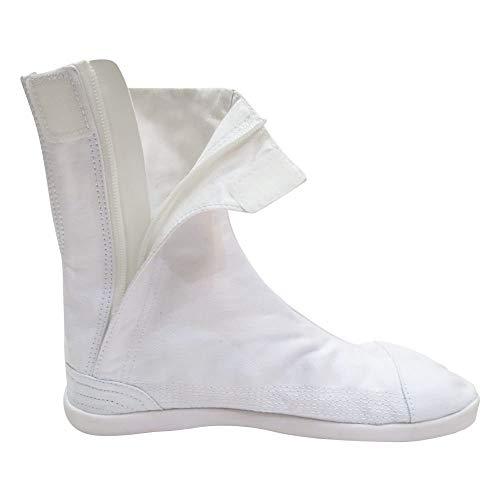 Marugo] Saisou Fastener (Zipper) Ninja Shoes Tabi Boots (Outdoor), White, 23.5(JP)/5.5(US)