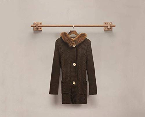 FF wandmontage kledingrek Kleding winkel Planken Exhibitor Massief hout muurbeugel Wandkledingrek (Maat: 100 cm)