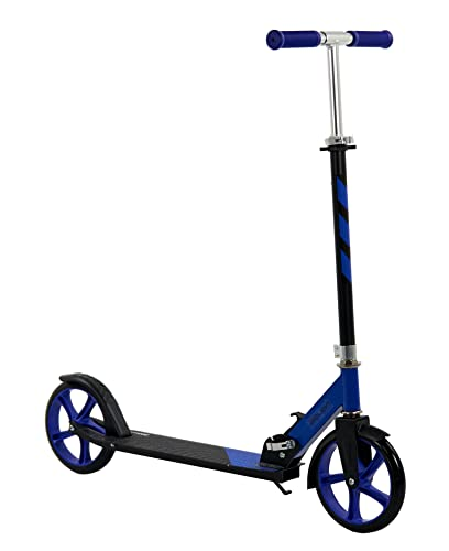 Sajan Kinderscooter - Kinderroller mit großen Reifen - ab 5 Jahren - 20 Zoll - Kickroller - Tretroller Kinder - Blau