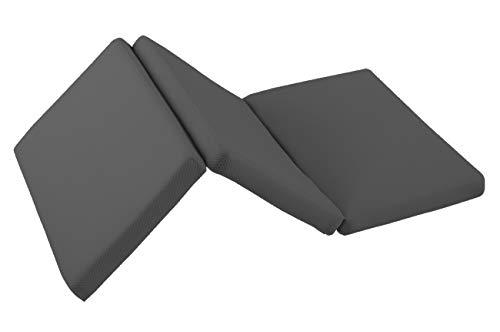 Matelas en mousse 60x120 grosseur 6cm, pour berceau de voyage pliable en 3 parties, housse 3D de coton respirant, inclus le sac de transport. CERTIFICAT OEKO-TEX (GRIS)