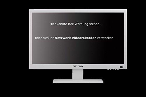DS-E1/7600ni a Hikvision, discreto e contemporaneamente werbewirksam: 8canali NVR con Monitor integrato combinata per sorveglianza con fino a 6Megapixel, può essere usato come unauffälliger VHS parallela o sobria Monitor per PC o pubblicità iniettabili. HDMI e ingresso VGA per dispositivi (es. PC, ricevitore SAT Terzi) Max. 80MBps ingresso Band larghezza 6x 1080P o 8x 720P con ciascuno 25fps