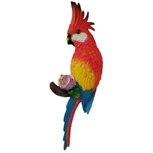 Tubayia - Escultura de Loro Colgante, diseño de pájaro, Rojo