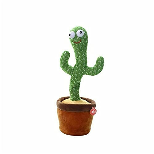 Cactus Plush Toys Singing and Dancing Cactus Electronic Toy, Plush Dancing Singing Cactus Funny Early Childhood Education Toys, Cactus Party Decorations (120 Songs Luminous Rechargeable (recordable))
