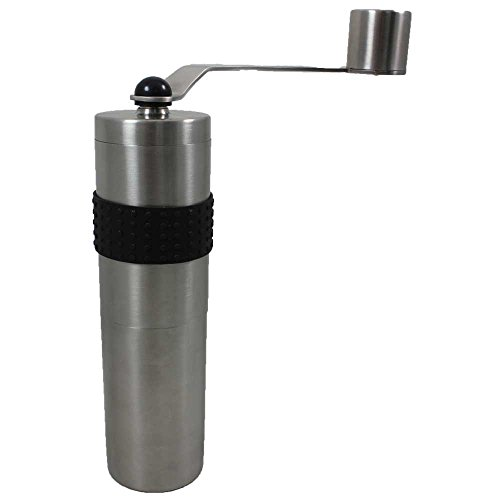 Rhino Coffee Gear Hand Coffee Grinder, Silver
