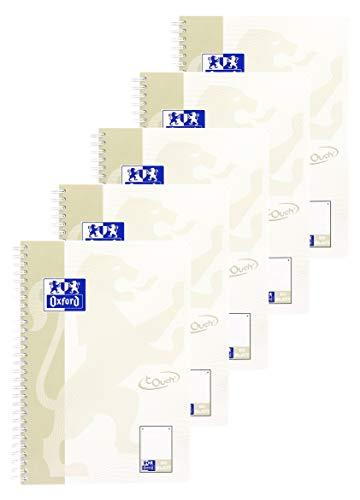 Oxford Touch Collegeblock B5, dotted punktkariert, 80 Blatt, 5er Pack