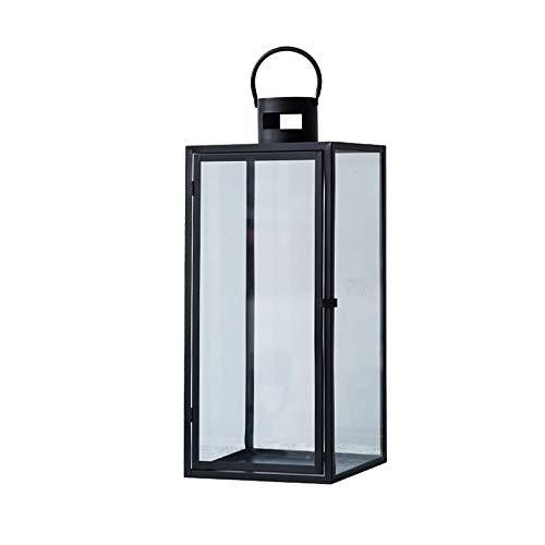 JISHIYU - Q - Lámpara decorativa de estilo vintage, portavelas de metal para interiores y exteriores, varios estilos (tamaño: L)