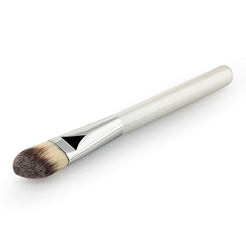 Qinlee Set de 1 pièces Pinceaux de Maquillage à lèvres Pinceaux Yeux Eye Liner Maquillage Fond De Teint Blush Poudre Liquide Crème Cosmetics Pinceaux Pinceau Estompeur Outil(Blanc)