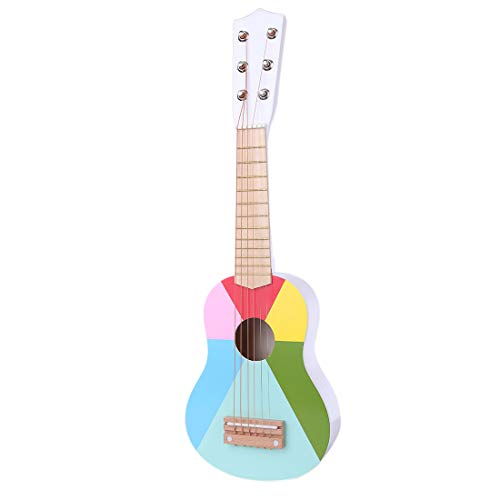 TONGJI Gitarre Kinder Kindergitarre 6 Saiten 21 Zoll Instrument Der Musik Kinder Gitarre Spielzeug Geburtstag Geschenk Für Anfänger ab 3 Jahre
