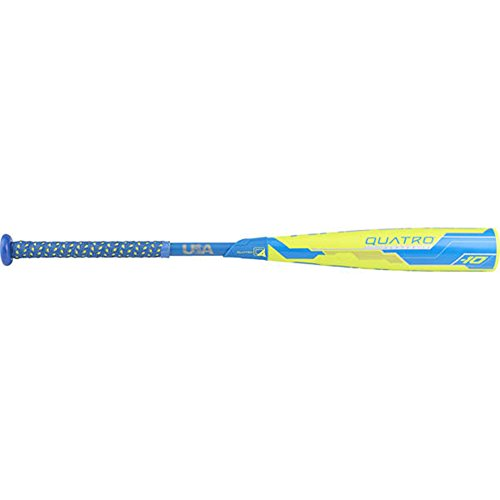 Rawlings Quatro Composite Usa Baseball Bat, 2-5/8' Big Barrel, 30' Length, -10 Drop Weight, 20 oz