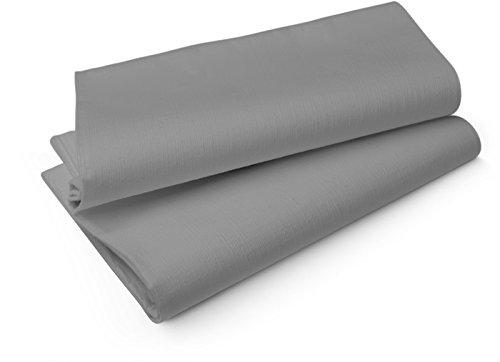 Duni Tischdecken aus Evolin Uni granite grey, 127 x 220 cm, 25 Stück