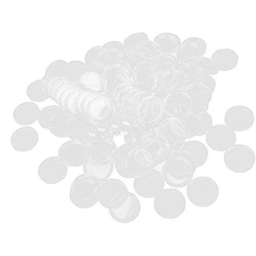 La Moneda del Caso plástico Redondo de 24 mm Cápsulas de Monedas Transparente Claro Portamonedas Recipiente para colección de Moneda Suministros 100PCSbackpackLuggage