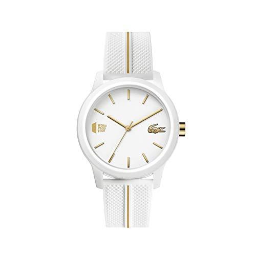 Lacoste Reloj Analógico para Mujeres de Cuarzo con Correa en Silicona 02001104