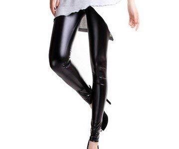 Lederlook legging - glans